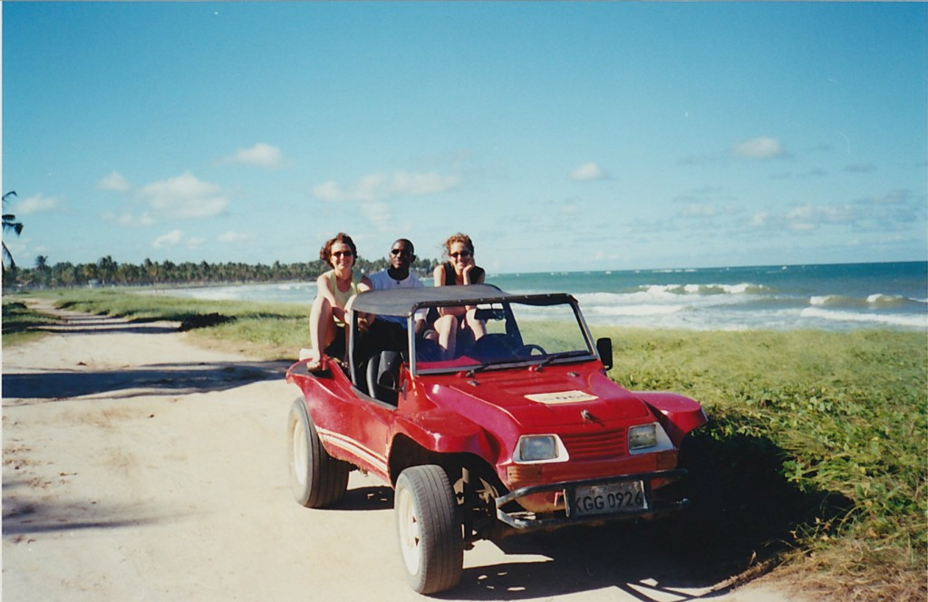 beach with jeep